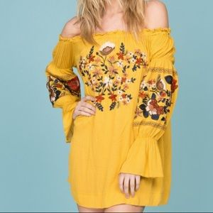 Princess Polly off the shoulder embroidered dress